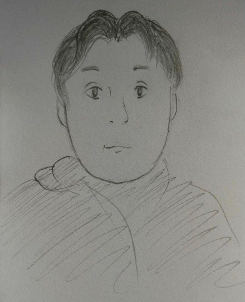Syksyn 2020 Ink-tiimiin osallistunut Niko, piirroskuva.
