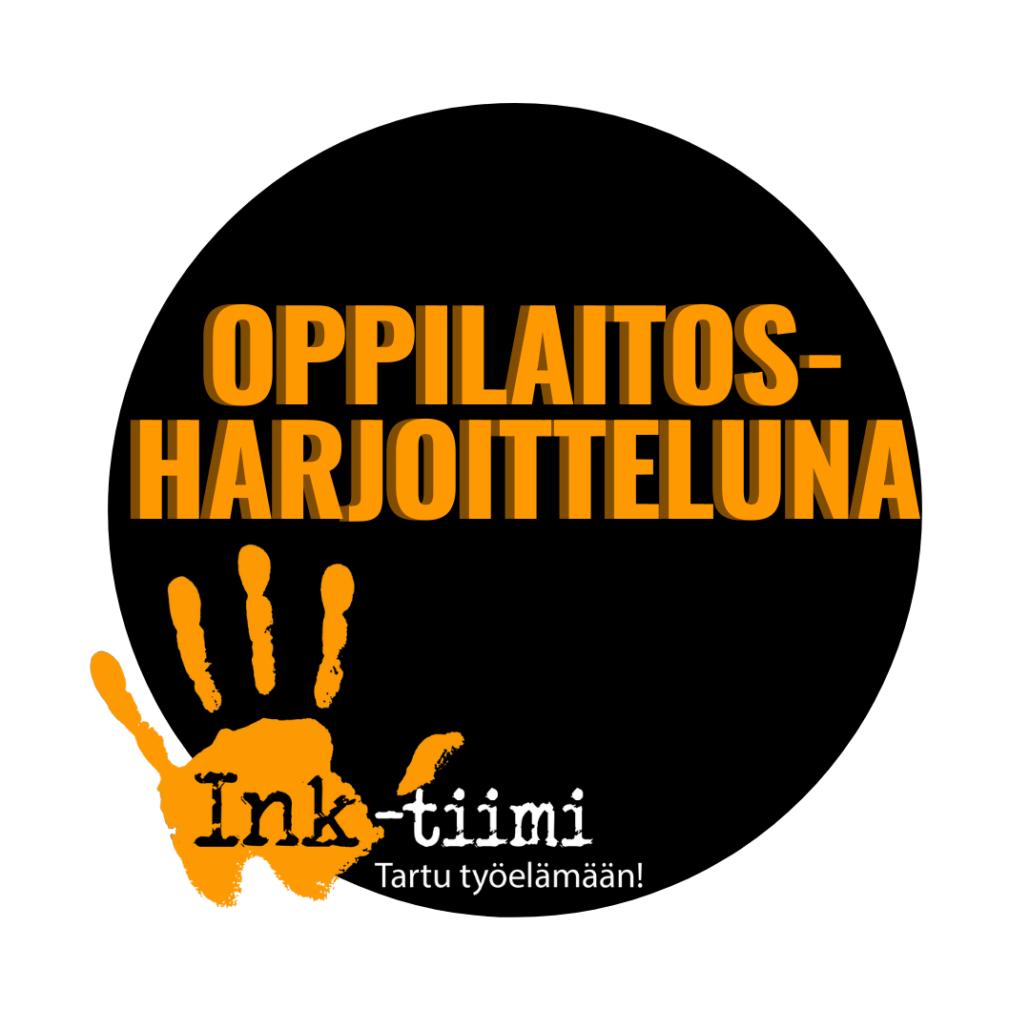 Pallo ja Ink-tiimin logo sekä teksti oppilaitosharjoitteluna.