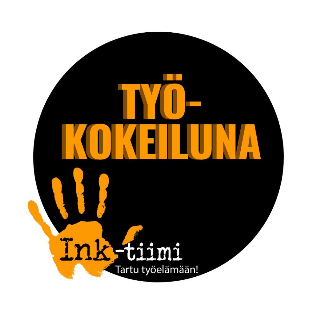 Pallo ja Ink-tiimin logo sekä teksti työkokeiluna.