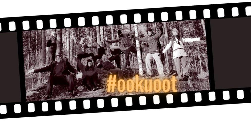 Filmirullakuva nuorista metsässä ja teksti #ookuoot.